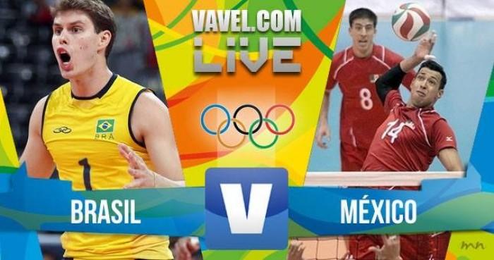 Brasil vence o México no vôlei masculino dos Jogos Olímpicos (3-1)