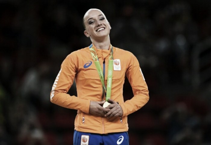 Rio 2016: Sanne Wevers wins gold on the balance beam; Laurie Hernandez, Simone Biles finish 2-3