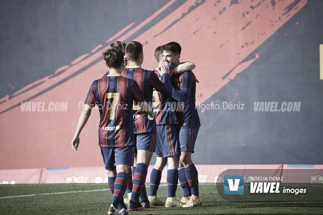 El FCB Juvenil B no afloja el ritmo y somete al CD La Floresta