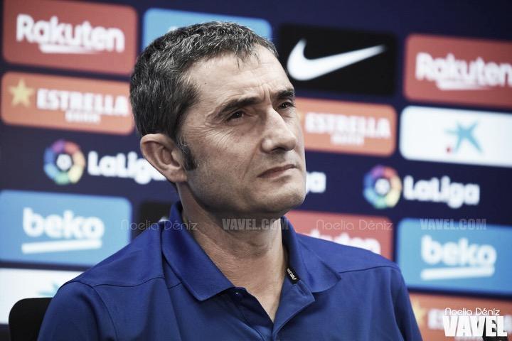 """Ernesto Valverde: """"Queremos irnosal parón con una buena sensación"""""""