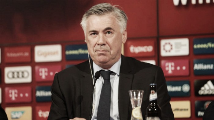 """Apresentado, Ancelotti prioriza manutenção de jogo ofensivo: """"Não estou para iniciar revolução"""""""
