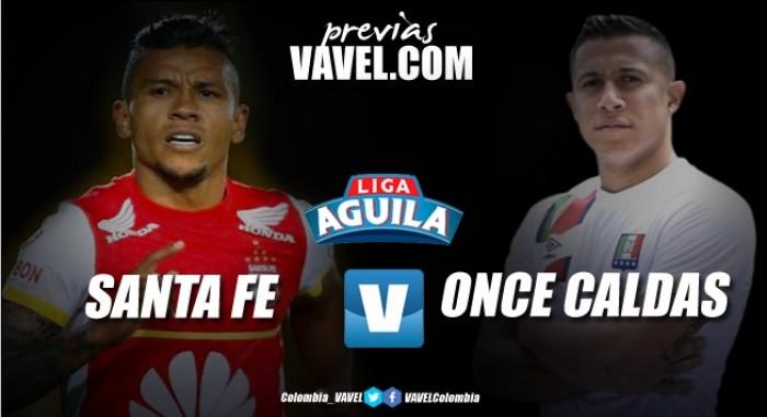 """Santa Fe vs. Once Caldas: Los """"Leones"""" buscan defender su Liderato ante un Once """"Blanco"""""""