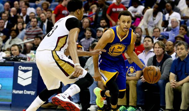Score New Orleans Pelicans - Golden State Warriors in 2015 NBA Playoffs (106-99)