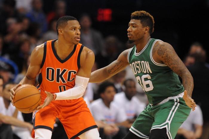 Oklahoma City Thunder Pound The Celtics In Boston