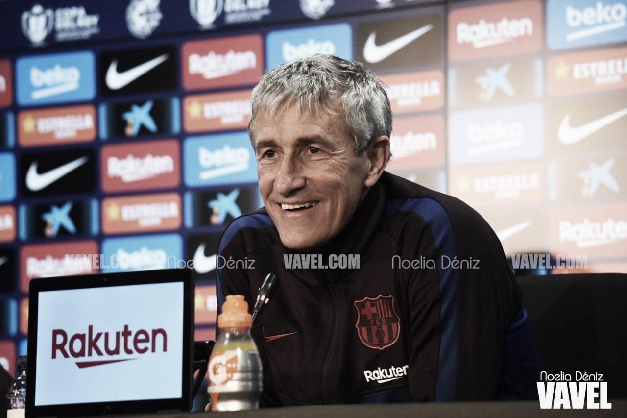 """Quique Setién: """"Trataremos de ganar la Copa del Rey"""""""
