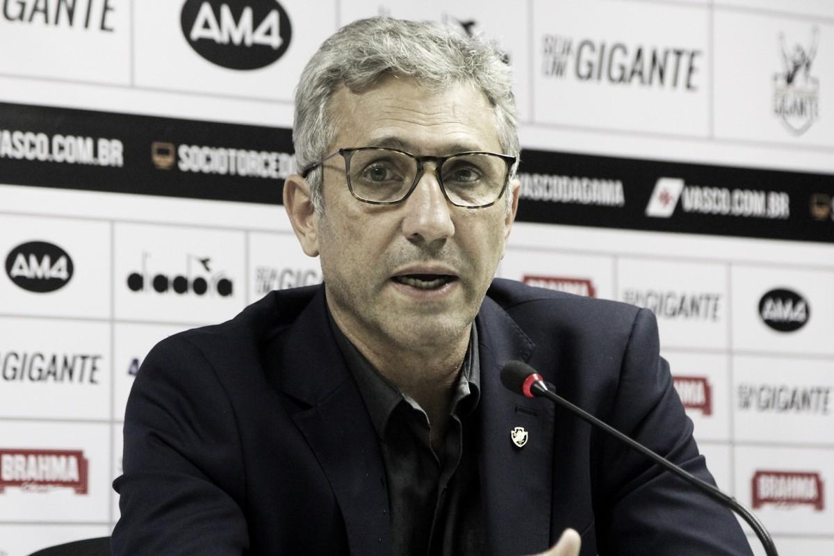 Sem nomes, Alexandre Campello fala de reforços encaminhados para o Vasco