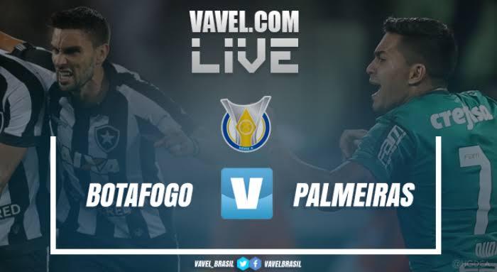 Resultado e gol Botafogo x Palmeiras pelo Campeonato Brasileiro 2019