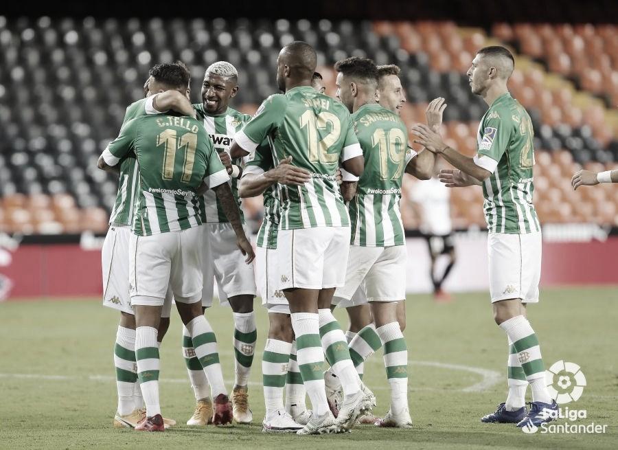 Jugadores del Betis celebrando un gol | Foto: LaLiga Santander