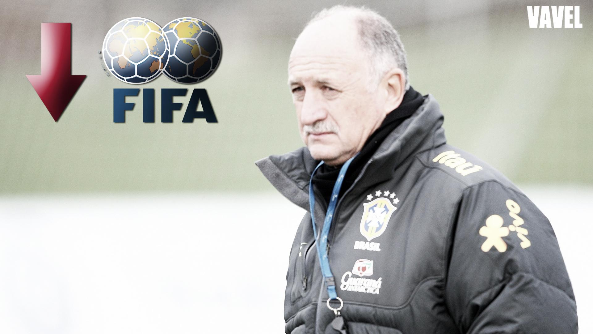 Brasil cai para 22º lugar no ranking da Fifa, a pior colocação de sua história