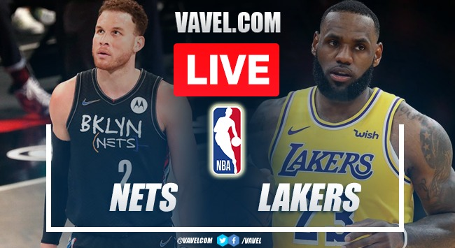 Summary and highlights of Los Angeles Lakers 97-123 Brooklyn Nets
