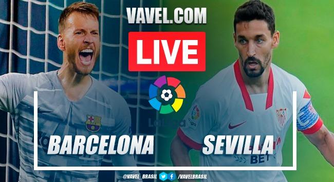 Gols e melhores momentos para Barcelona 1x1 Sevilla pela LaLiga 2020-21