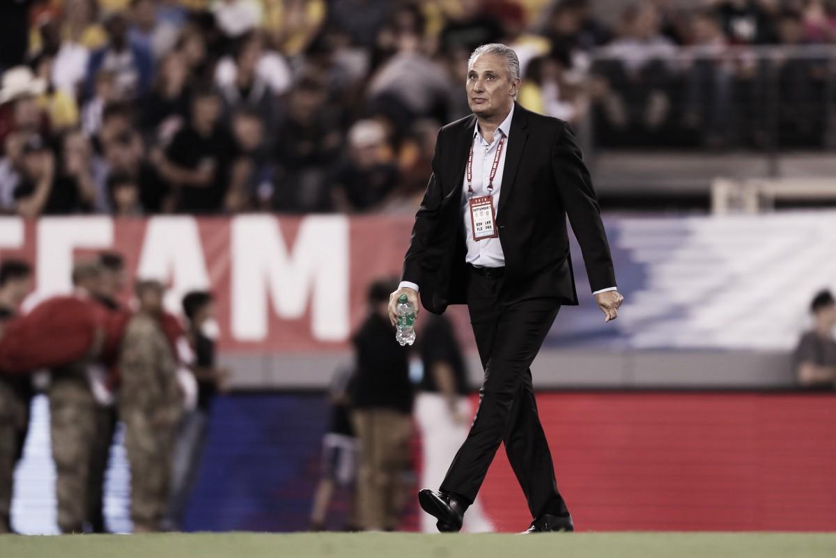 """Tite rasga elogios a Neymar e ressalta sua importância na Seleção: """"Tem liderança técnica"""""""