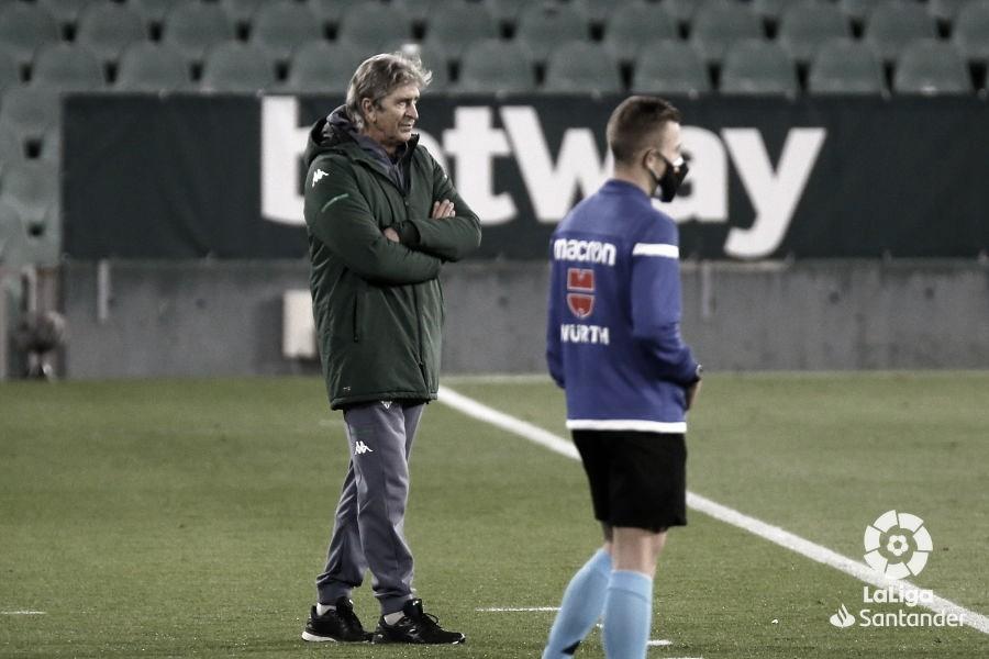 """Pellegrini: """"El equipono jugó con el marcador en la cabeza"""""""