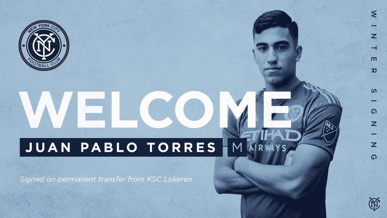 Juan Pablo Torres se incorpora a NYCFC