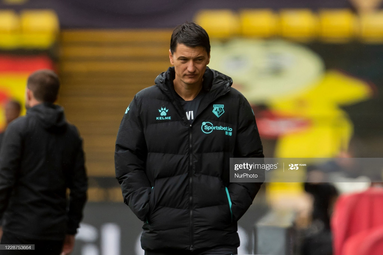 Vladimir Ivic's Watford are winless in three games after defeat at Barnsley. Photo: NurPhoto/Getty Images.