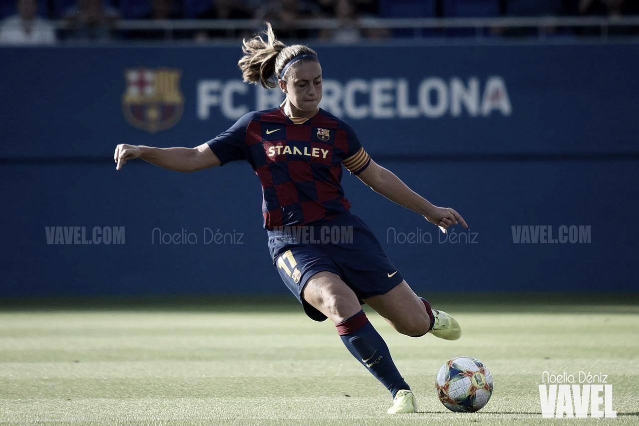 """Alexia Putellas: """"Es muy difícil atacar con nueve jugadoras dentro del área"""""""