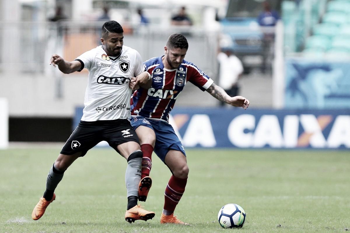 Com gol no fim, Bahia e Botafogo empatam na Fonte Nova pelo Brasileirão