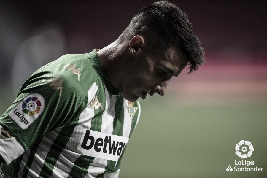 Tello ante el Atlético de Madrid | Foto: LaLiga Santander