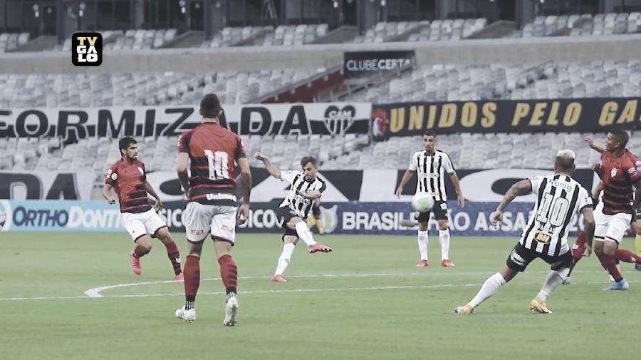 Hyoran abre o placar para o Galo (Foto: Divulgação/Atlético-MG)