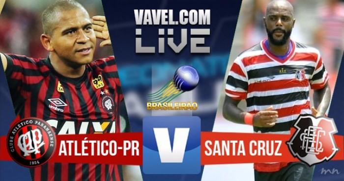 Resultado Atlético-PR x Santa Cruz na Série A do Campeonato Brasileiro (1-0)
