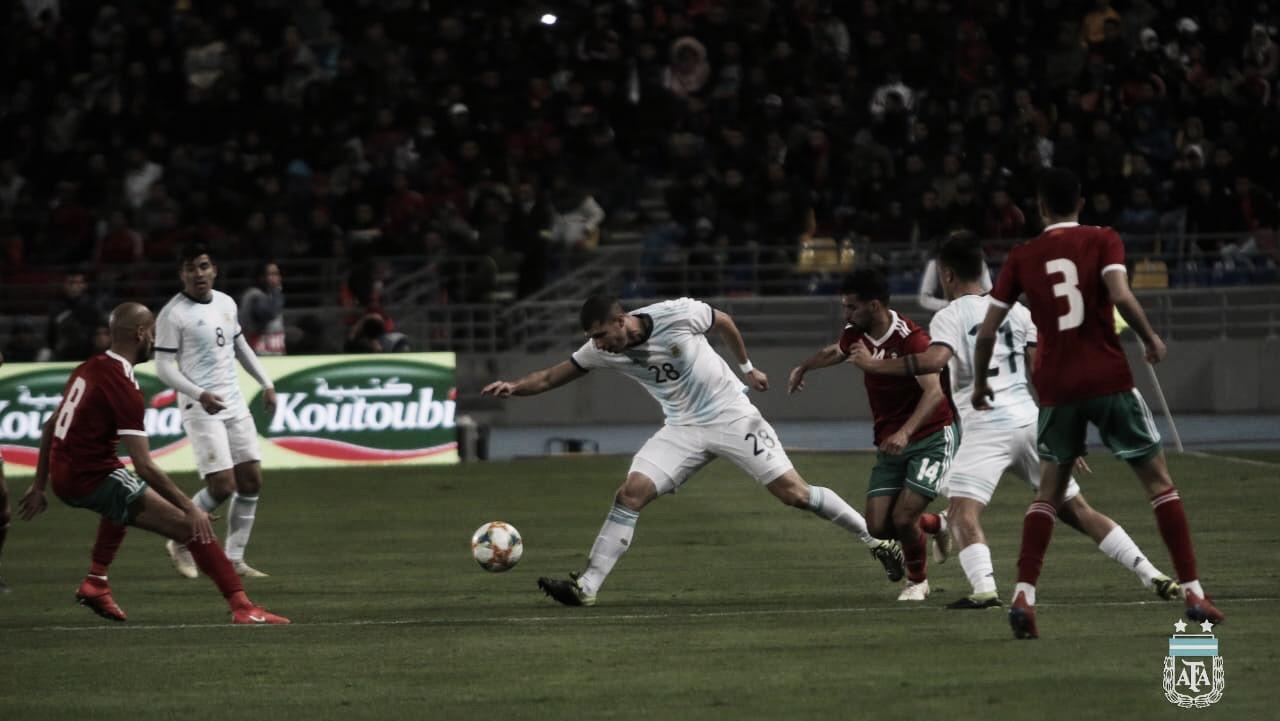 Ángel Correa sai do banco, marca e Argentina vence Marrocos em Tanger