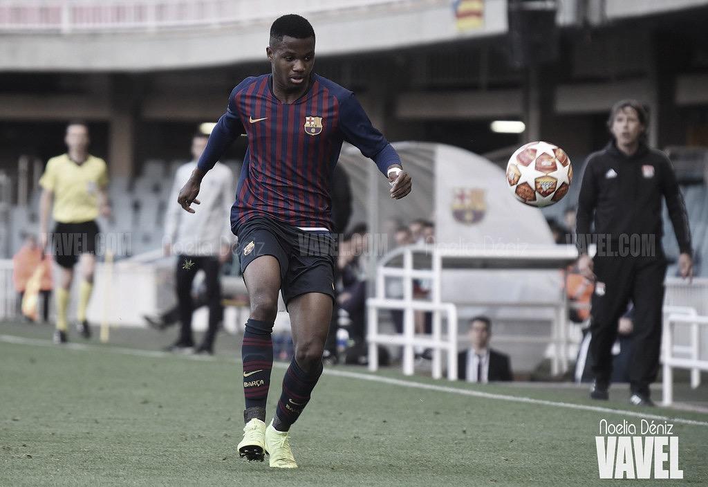 Ansu Fati, el jugador más joven del Barça en debutar en la Champions