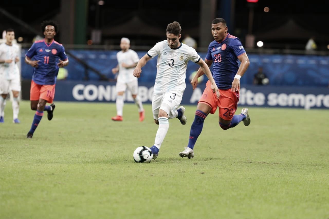 Derrota en el debut de la Copa América frente a Colombia