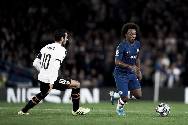 Rodrigo marca, e Valencia surpreende Chelsea em Londres pela Champions