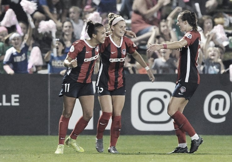 Washington Spirit Defeat North Carolina Courage 2-1