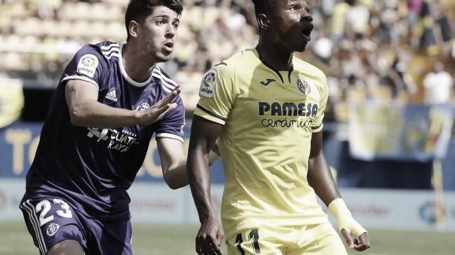 Chukwueze y Waldo en el Villarreal - Valladolid de la pasada campaña. | Imagen: realvalladolid.es