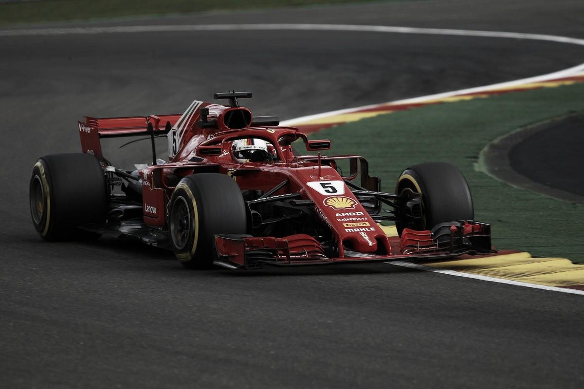 Ferrari manda en Spa