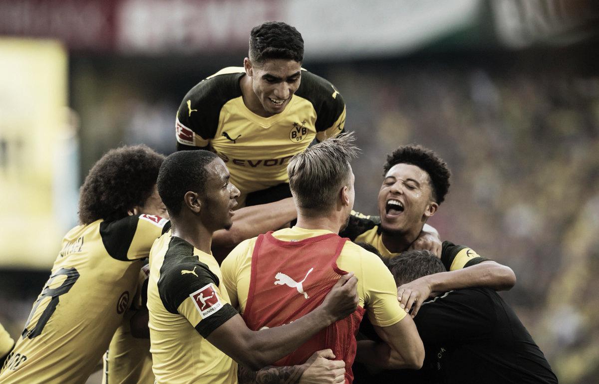 Borussia Dortmund vence Augsburg em virada no último lance da partida