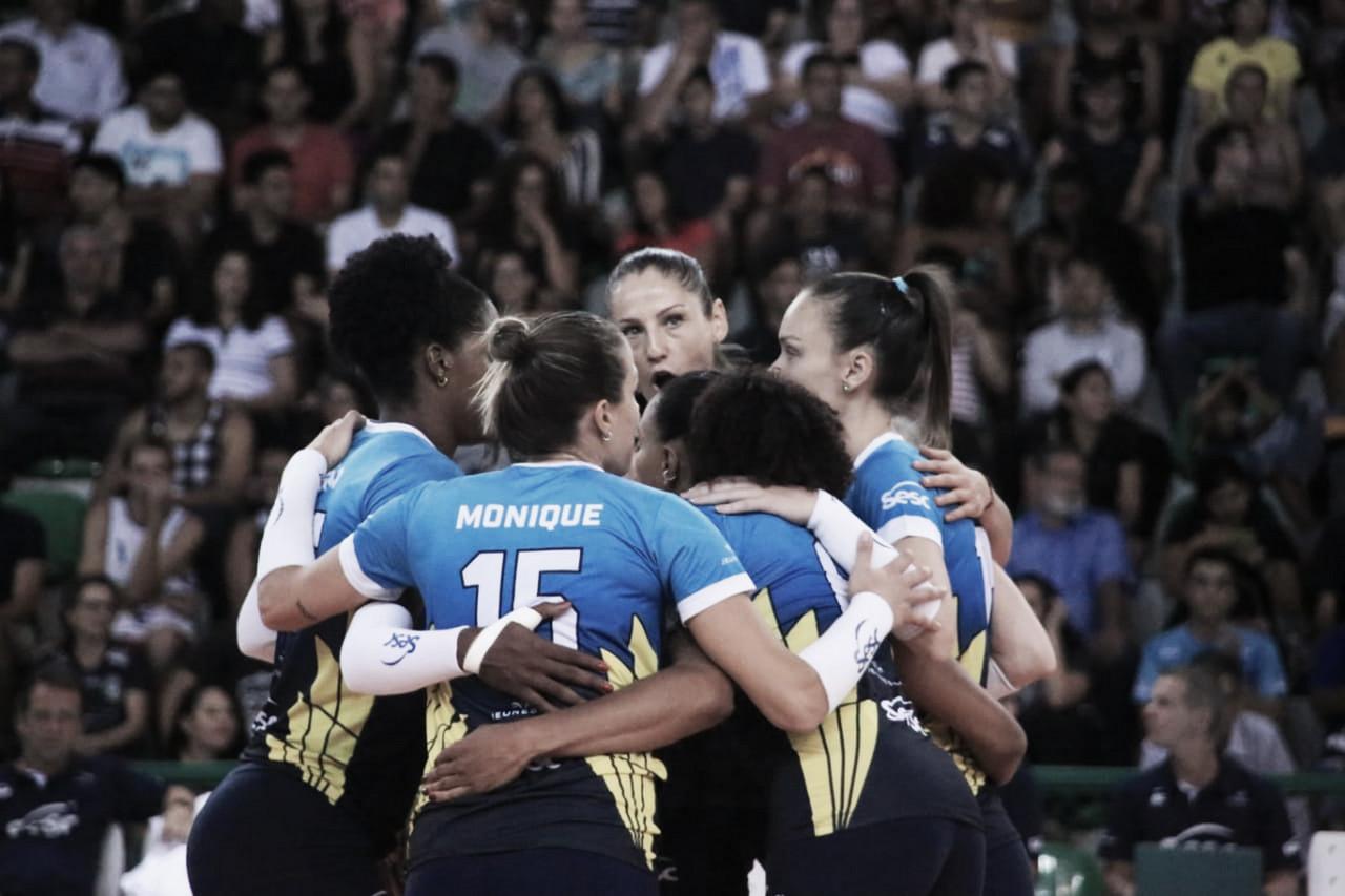 Sesc-RJ derrotaBrasíliaVôlei fora de casa pela Superliga Feminina