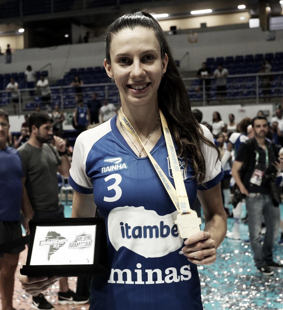 Melhor levantadora do Sul-Americano, Macrís exalta elenco do Itambé/Minas
