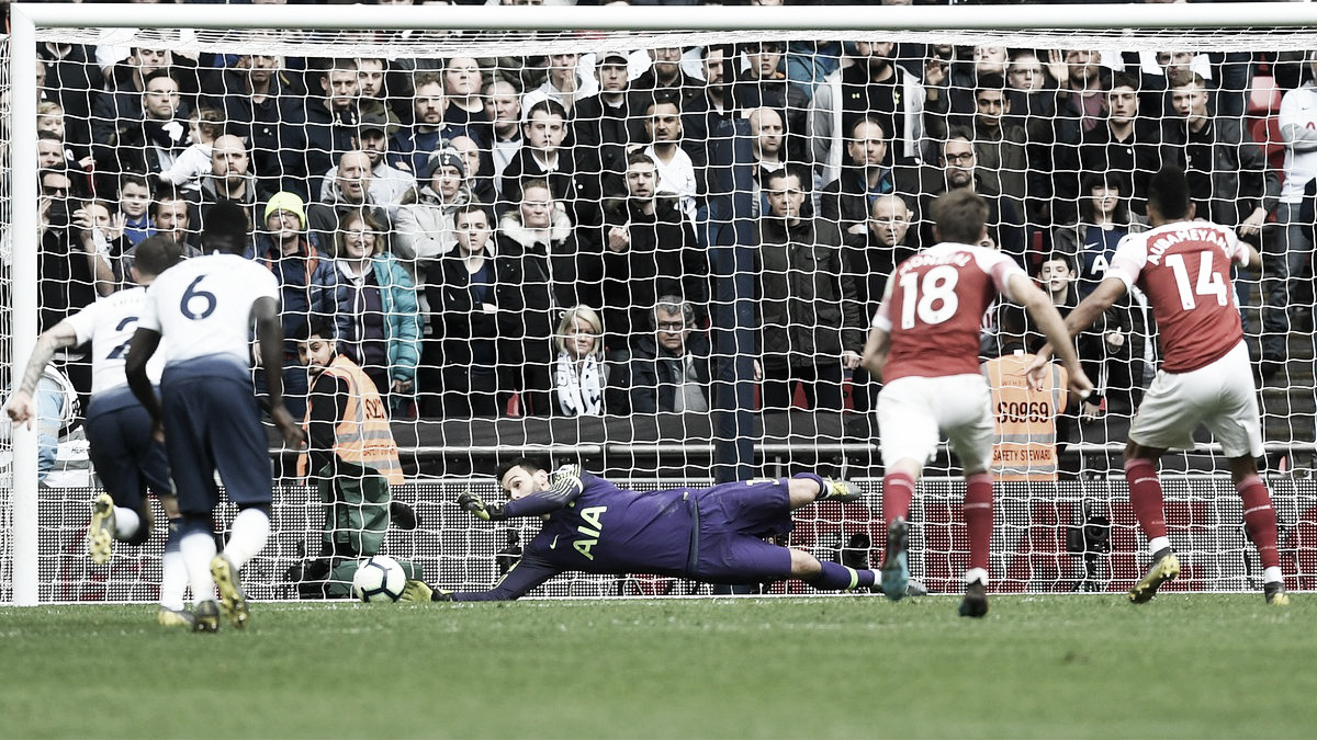 Lloris defende pênalti e Tottenham empata com Arsenal pela Premier League