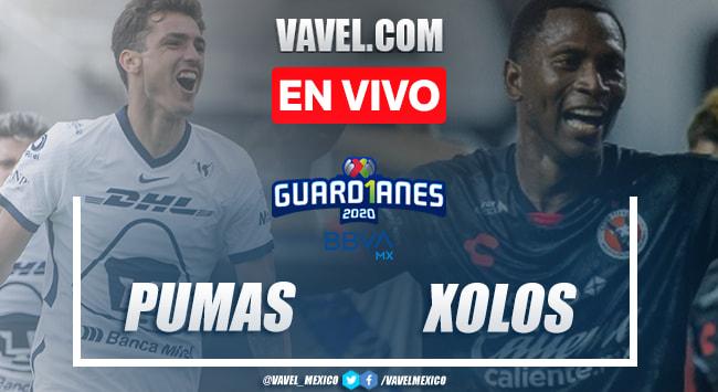 Goles y resumen: Pumas 3-0 Xolos en Guard1anes 2020