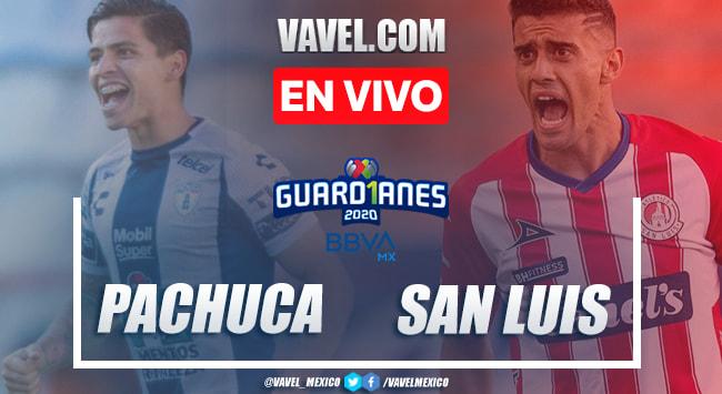 Goles y resumen: Pachuca 3-1 San Luis en Guardianes 2020