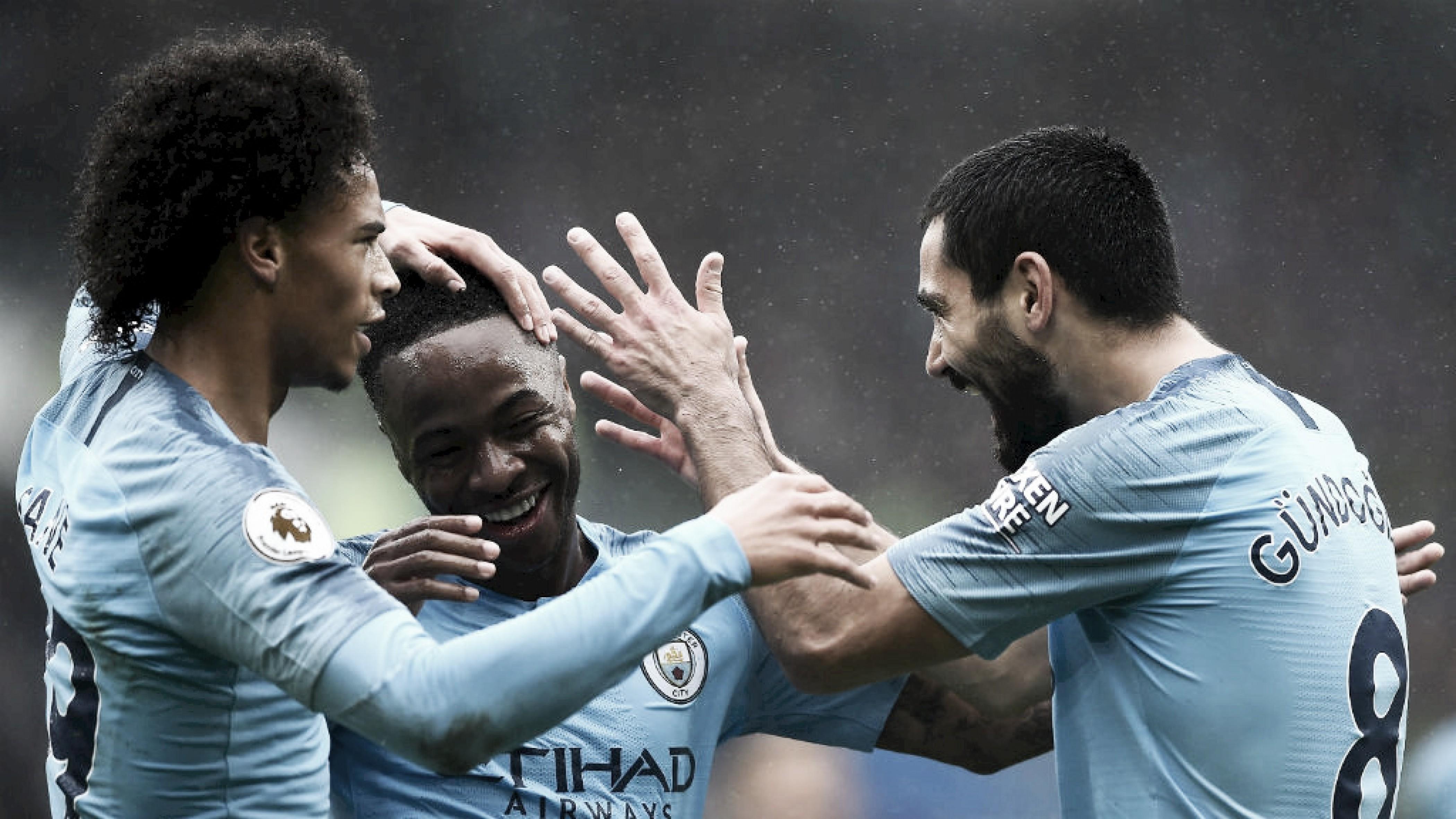Com amplo domínio, Manchester City goleia Cardiff na Premier League