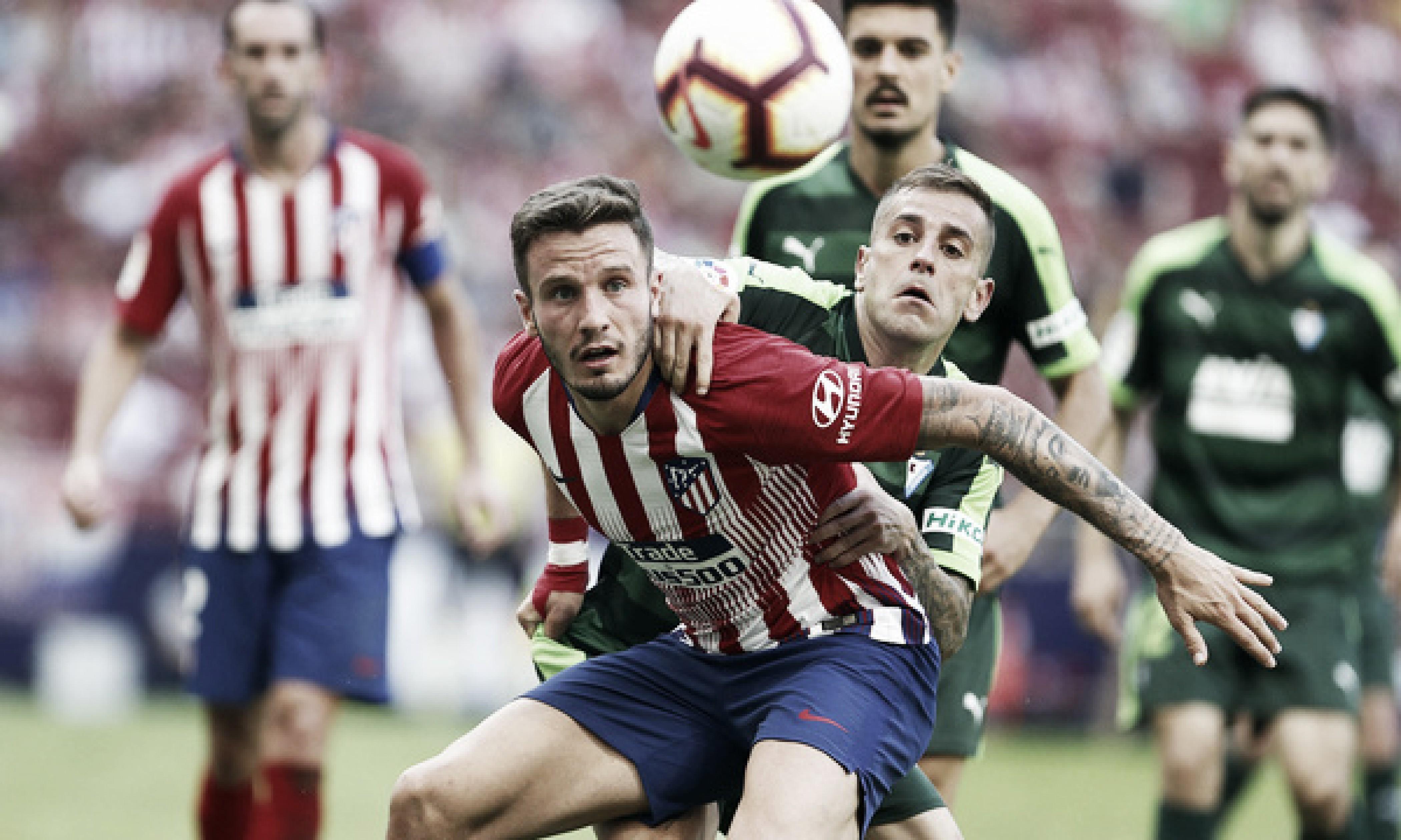 Atlético de Madrid marca no fim e garante empate contra Eibar pela La Liga