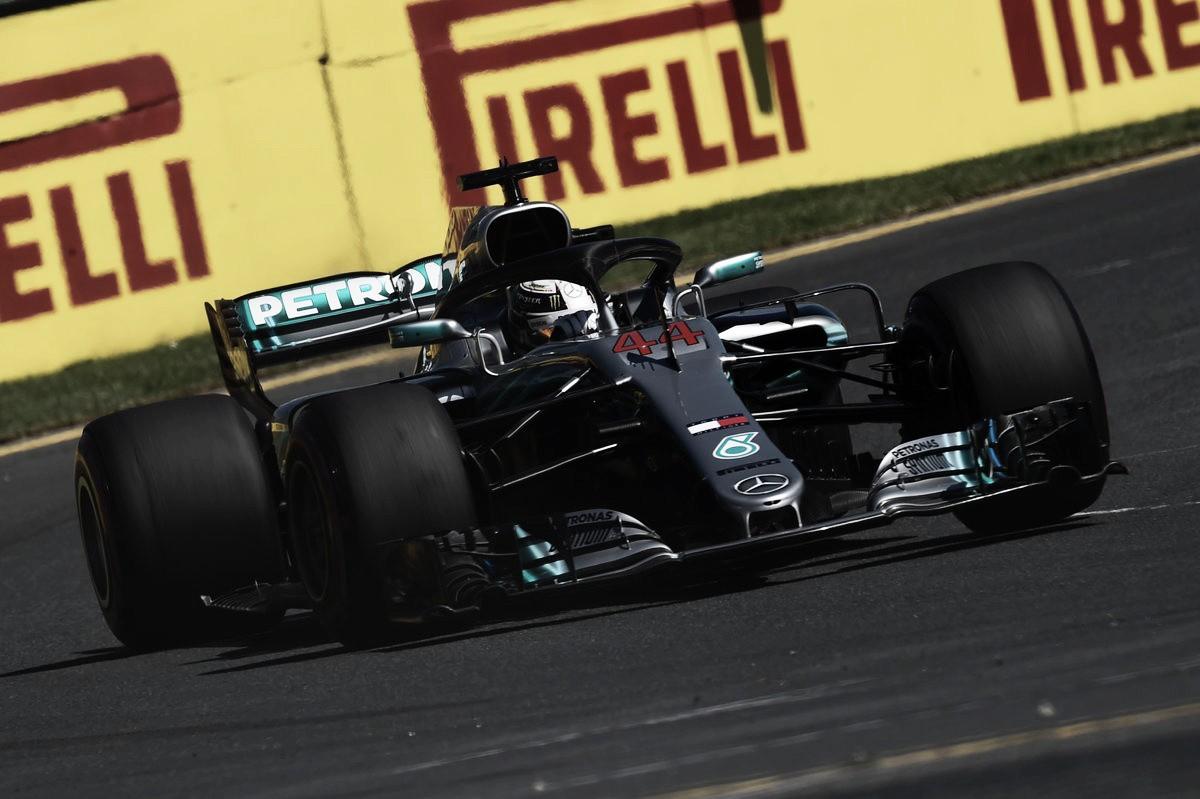 Hamilton marcó el rumbo en Australia