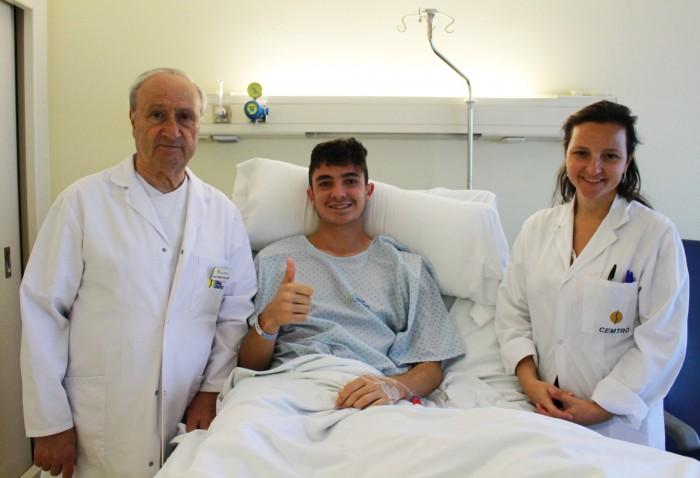 Rubén Fernández, operado con éxito de la rotura del ligamento cruzado anterior