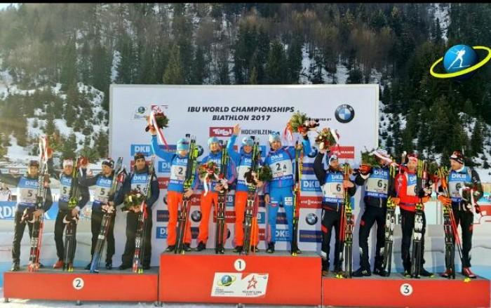 Hochfilzen 2017, staffetta maschile: Russia oro con super Shipulin. Italia quinta