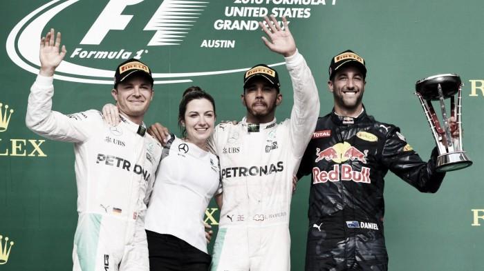 Hamilton ganó en Austin