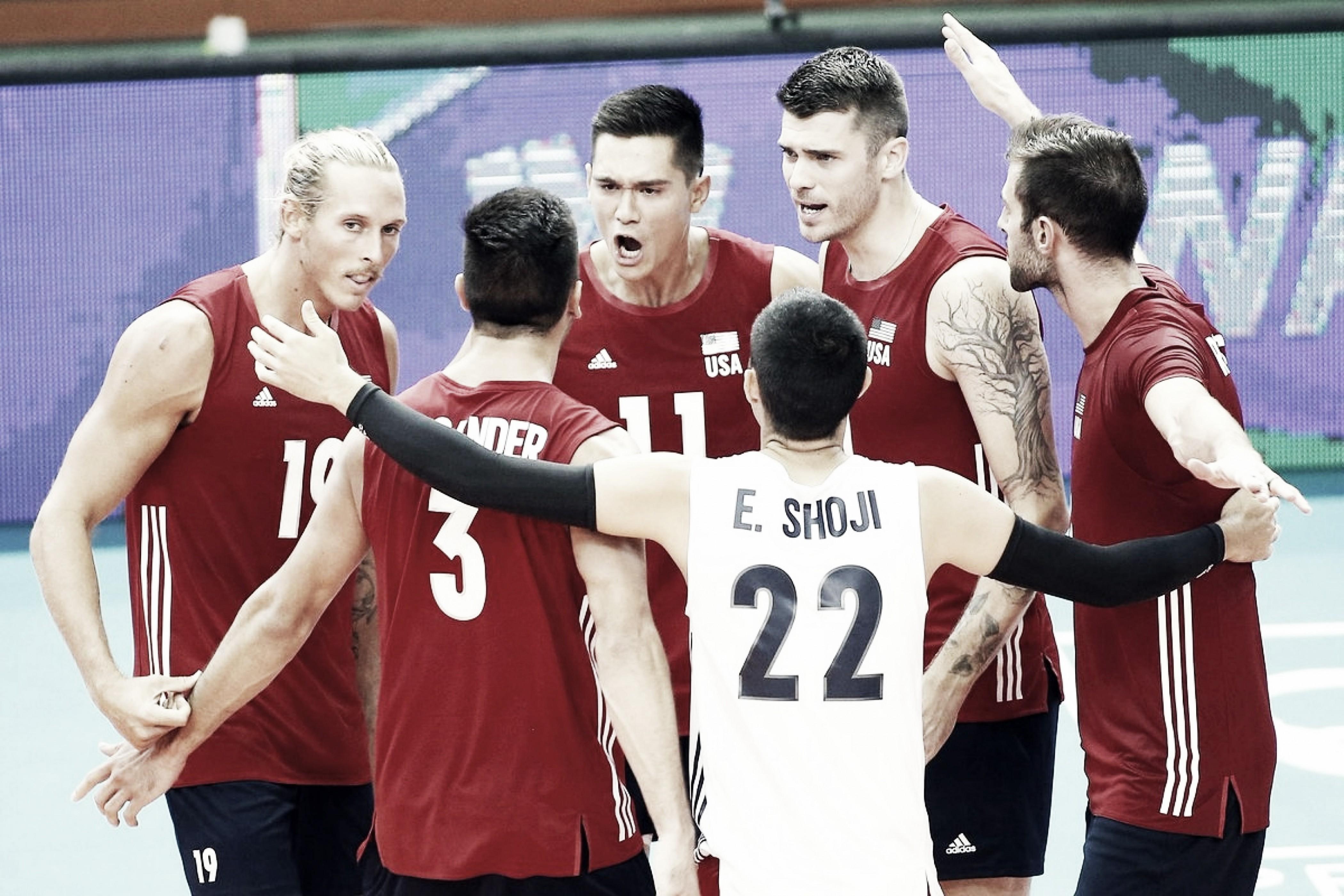 Estados Unidos vence Sérvia de virada e estreia com vitória no Mundial masculino de vôlei