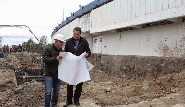 Rafael Moreno Valle visita la remodelación del Estadio Cuauhtémoc