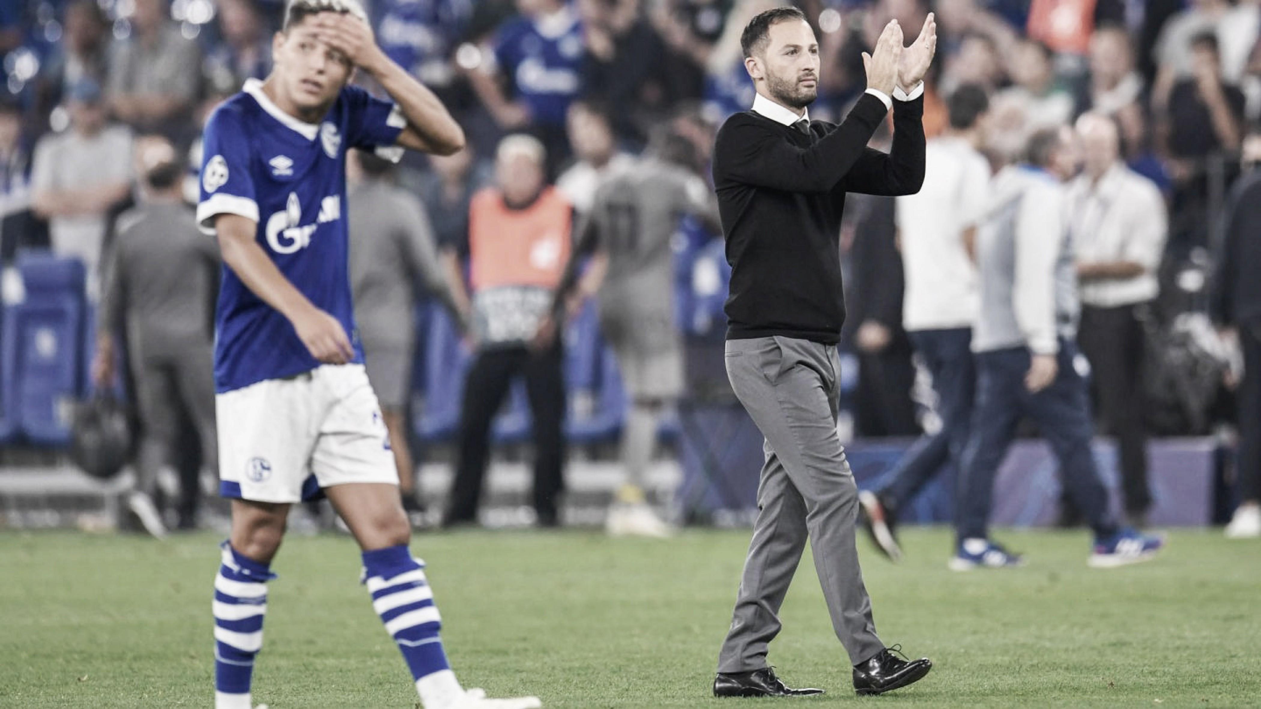 Mesmo com derrota, Domenico Tedesco vê bom desempenho do Schalke 04 contra o Bayern