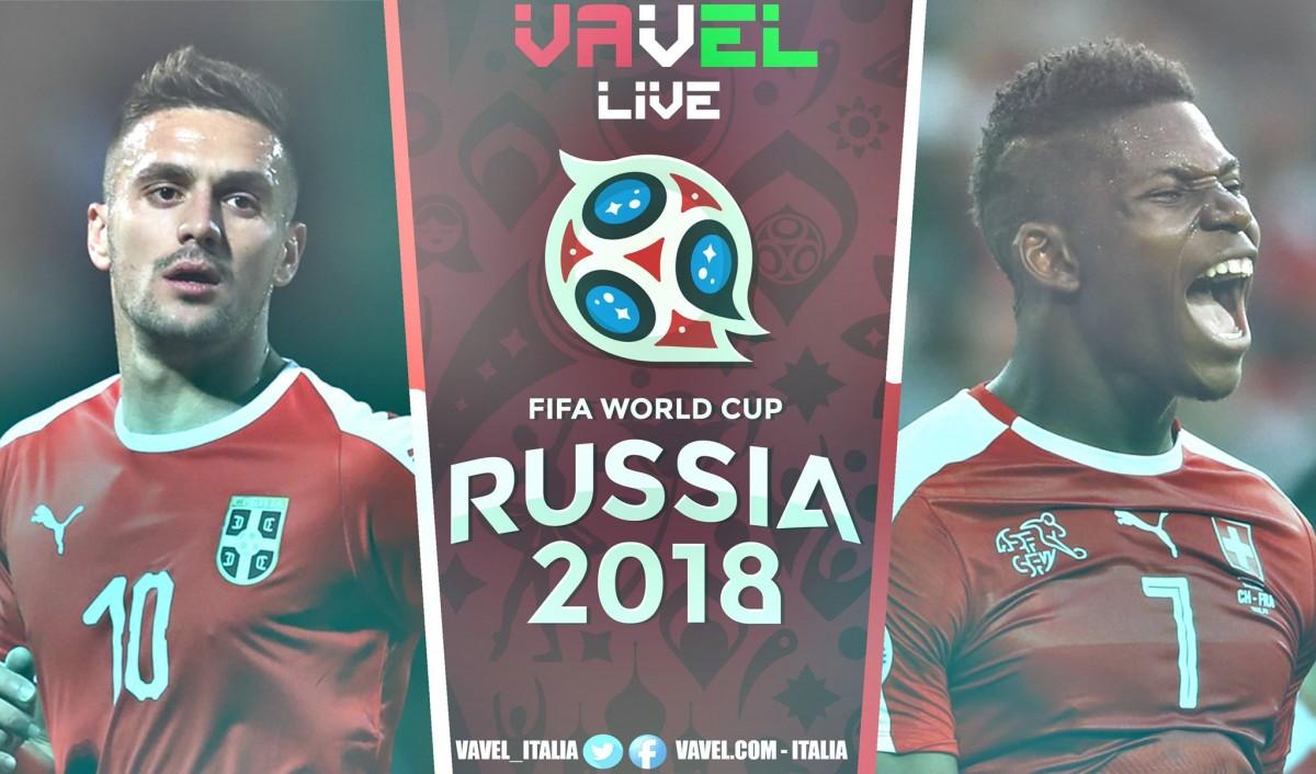 serbia svizzera in diretta live mondiali russia 2018