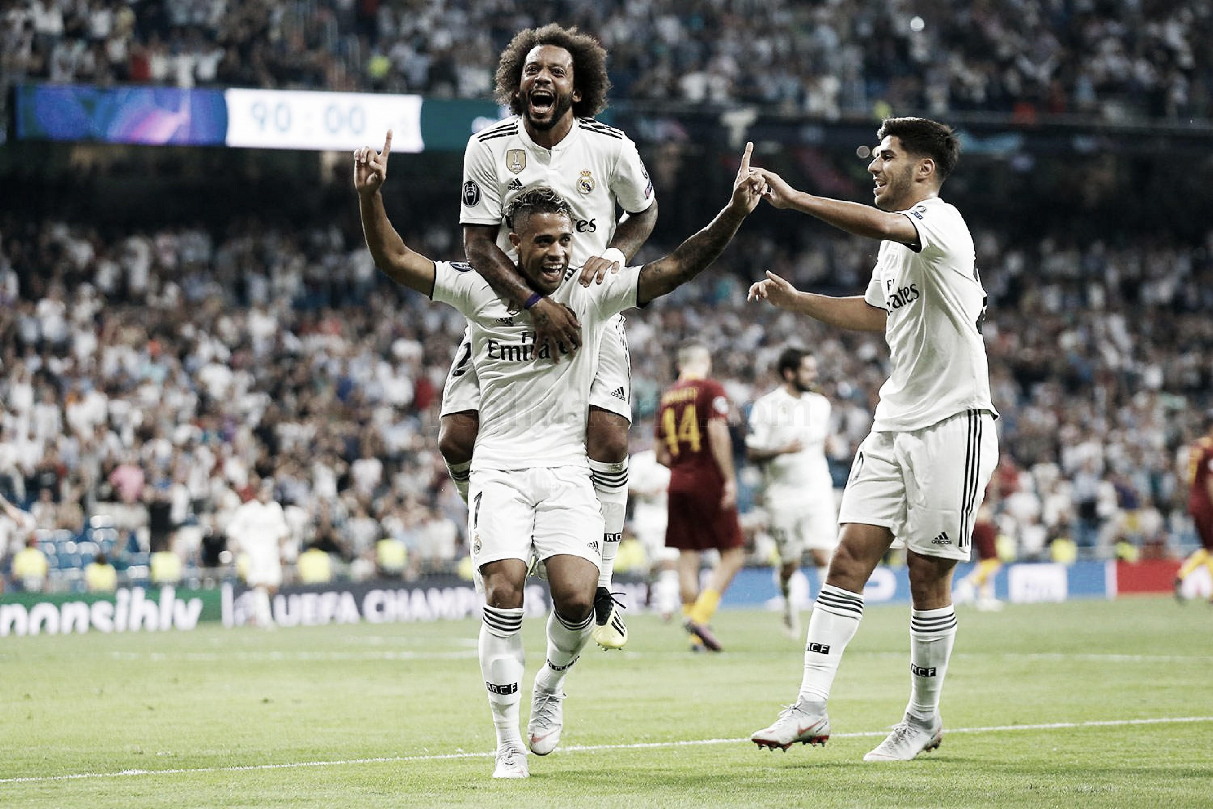 Com pintura de Mariano, Real Madrid vence Roma em casa na Champions League