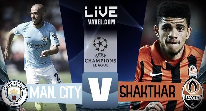 Terminata Manchester City - Shakhtar, LIVE Champions League 2017/18 (2-0): Gol di De Bruyne e Sterling