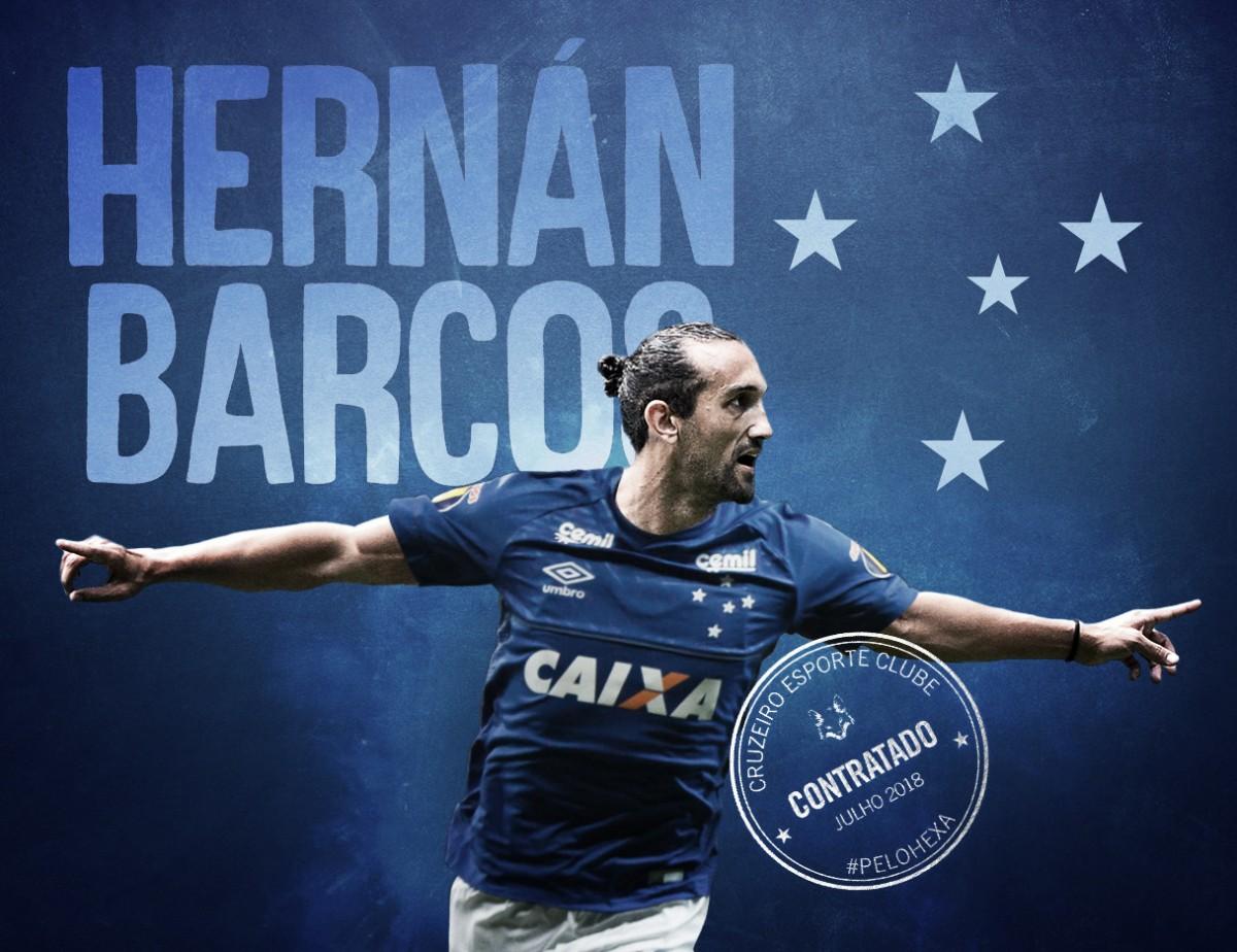 Reforço à vista: Cruzeiro anuncia contratação de Hernán Barcos por uma temporada